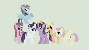 Alternate Universe: Mane 6 by Midnight--Storm