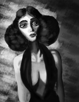 Grayscale Beauty by Absol2Moons