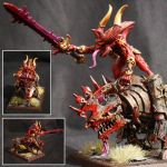 Herald of Khorne on Juggernaut by Taelonar