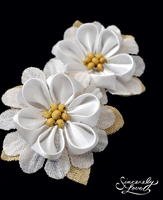 Vintage Cream Kanzashi by SincerelyLove