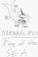 Narwhalrus King of the SEA by squirrelboy9622