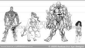 RAD: Some Character Designs 01 by johnbecaro