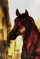 COLORED Undead Horse by AngelKiller666