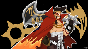 Draven of the Dai-Gurren Brigade by MsVioletMagpie