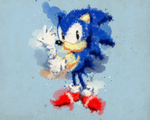 Classic Sonic - Watercolor Wallpaper by AlexTHF