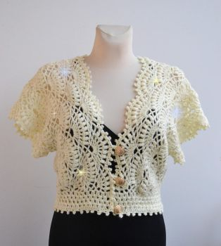 Cream wedding bolero by dosiak