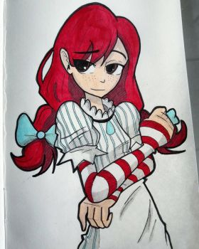 Wendys sketch (colored) by Warlic217