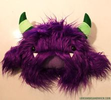 Custom purple monster by loveandasandwich