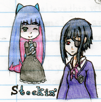 Stocking and Saya by GreekHinata