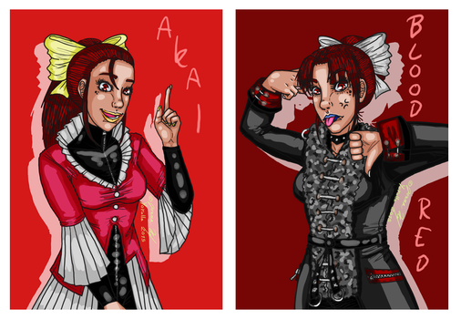 Akai and Blood Red the Reds by Yorulla