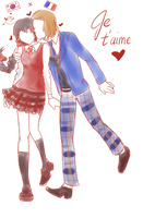 Francexfem!SK: Je T'aime by froyo-frenzy