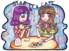 Kirke and Canelle's Tea Party [ART TRADE] by suusj-chan
