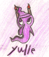 Yulie The little purple ghost by MotoNeko