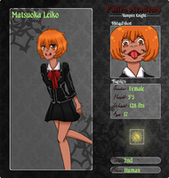 Fallen Academy Application- Leiko by PuertoRicoCoffee