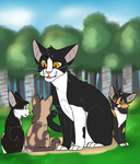 A dad and his kits by dessydoodle