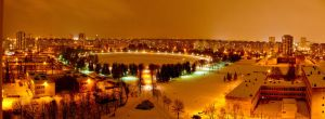 Night Panorama in the City by SilverWolf112