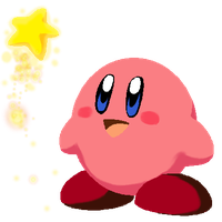 Kirby with Warp Star by PurpleRAGE9205