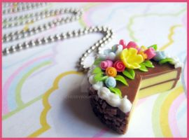 Chocolate Cake Necklace by cherryboop