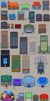 BW BUILDINGS TILESET by WesleyFG