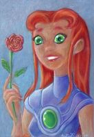Starfire's Rose by LEXLOTHOR