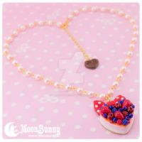 Dreamy berry cake Necklace by CuteMoonbunny