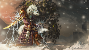 Charr Elementalist by Huussii