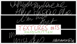 Textures 13: Handwritten by lifeisdolce