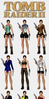 Tomb Raider 2 - Lara's outfits by HailSatana