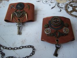 Airship Navigators' Bracers by CheshireGhost