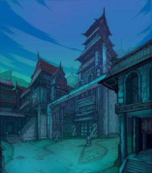 EXT Monastery by Solblight by charco
