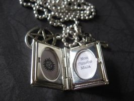 Hunter's Journal Locket by SpellsNSpooks
