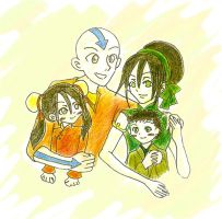 Taang Family -colored- by 10tative