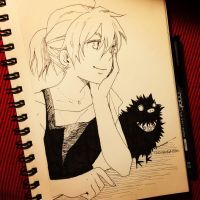Can you fly? - Inktober.08 2015-10-12 by lita426t