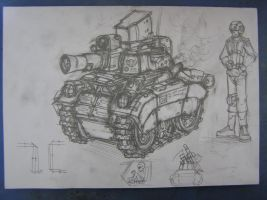 Crampwell, the tiny tankette by Sanity-X
