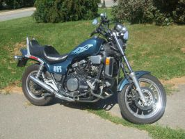 Hubby's Motorcycle by BlueIvyViolet