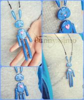 Blue bunneh necklace by A-Spark-Of-Light