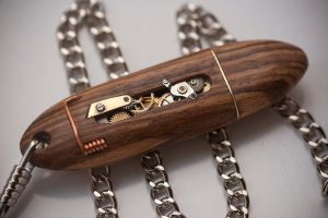 Mechanical USB Key - Zebrano by back2root
