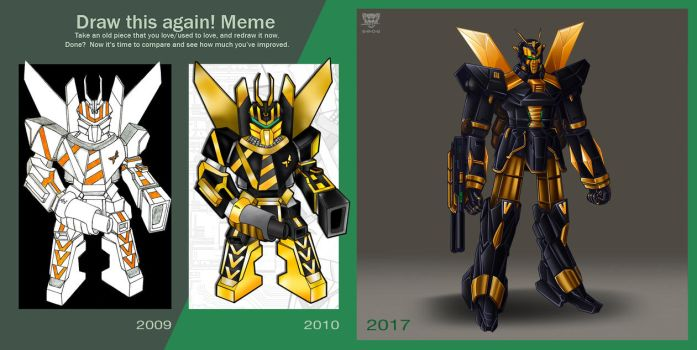 Draw This Again! Meme - Yellow Jacket by S-m-o-G
