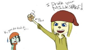 I drink your MILKSHAKE -color- by StoopidChelsea