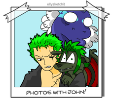 Photos with John - Zoro and Els by ellysketchit