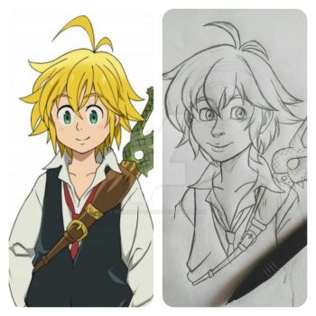 Art Style Translation. Meliodas-Seven Deadly Sins by DemonCartoonist