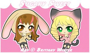 .:Kelsey Kitty and Bunny:. by PhantomCarnival