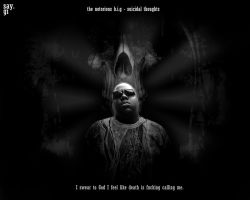 Notorious B.I.G - suicidal thoughts by TheSayGi