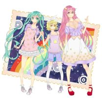 Vocaloid trio by xLunna