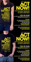 ACT NOW Charity T-Shirt by loveisickprojekt