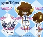 Bouffalant sample sheet copy by spiderliing666