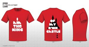 I am the king of my own castle T-Shirt by Laazar