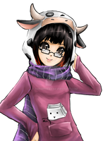 Cow Moo Girl by shrimpHEBY