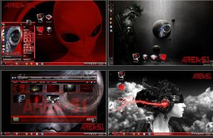 Windows 7 themes: Area 51 red by bbosa