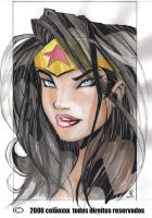 Wonder woman face by celaoxxx